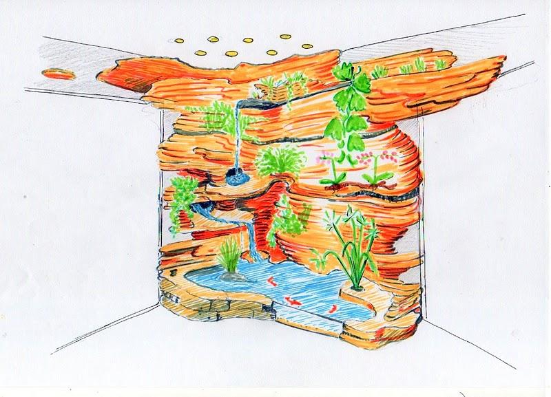 Forum de bee paysage mur v g tal en rocher artificiel for Dessiner sur un mur peinture